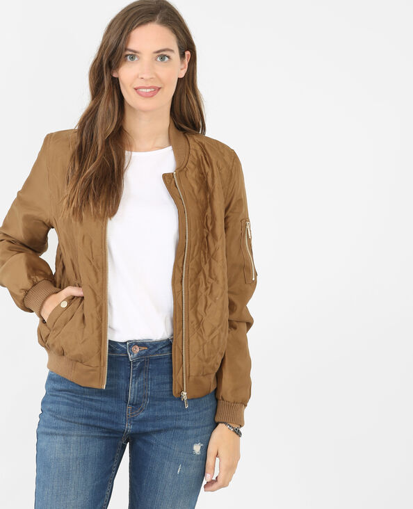 Bomber satiné marron