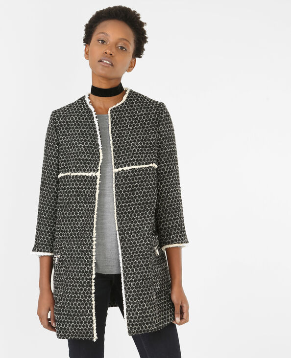 Summercoat lainage fantaisie noir