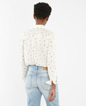 Blusa vaporosa estampada marfil