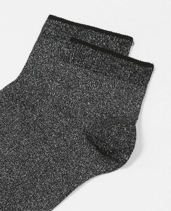 Chaussettes lurex noir