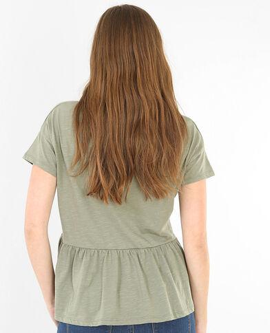 T-shirt peplo verde