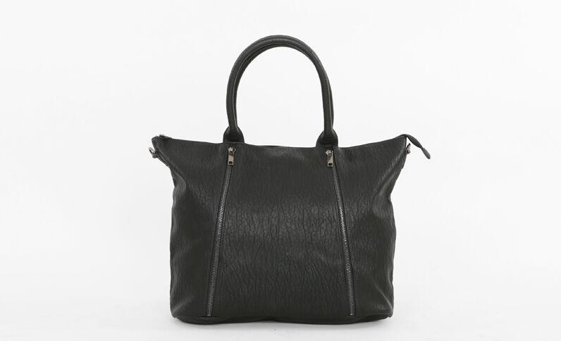 Bolso cabás con cremallera negro