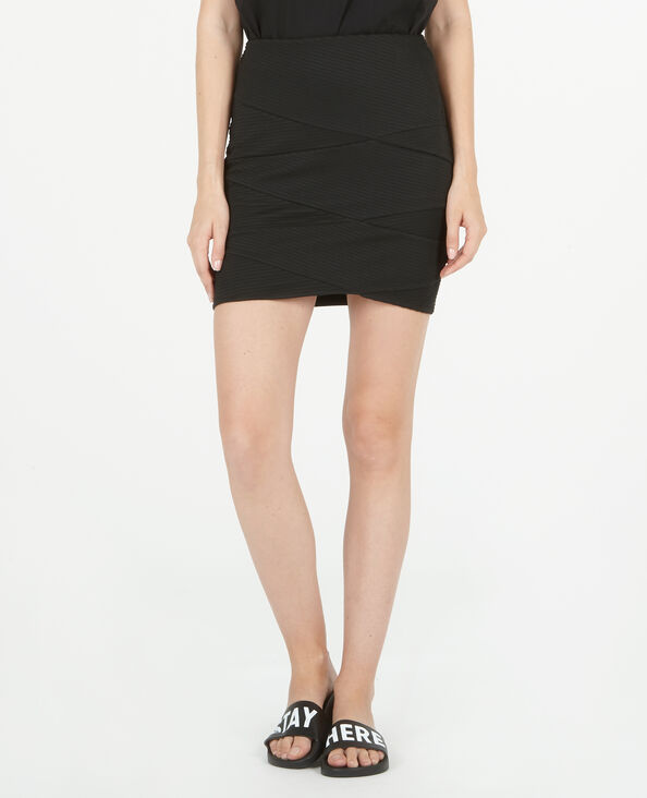 Minigonna bodycon nero
