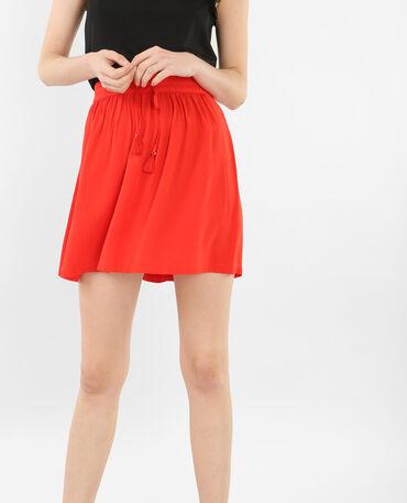 Mini jupe fluide rouge