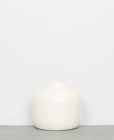 Petit vase soliflore blanc cassé