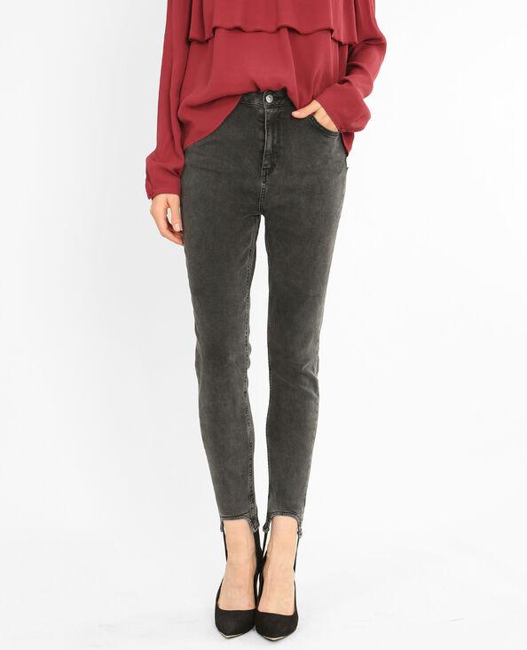 Jeans skinny de tubo negro