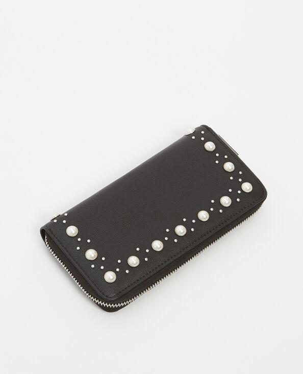 Portefeuille à perles noir