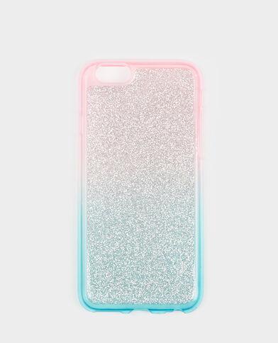 iPhone-hoesje met glitter blauw