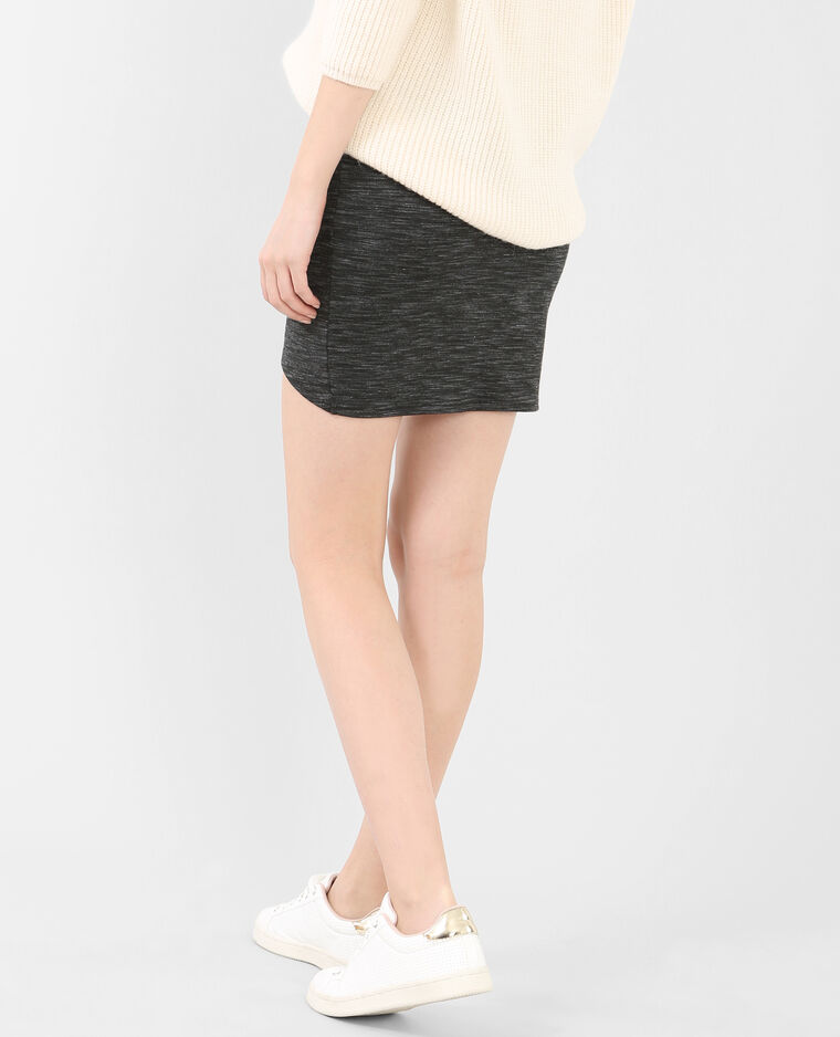 Mini jupe bodycon gris chiné