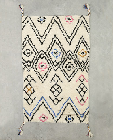 Tapis berbère multicolore écru