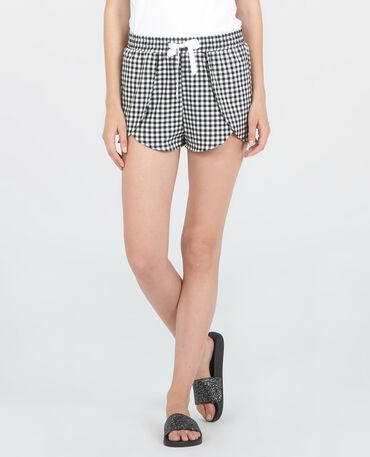 Short homewear vichy nero