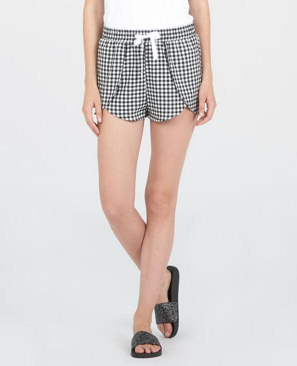 Short homewear vichy nero