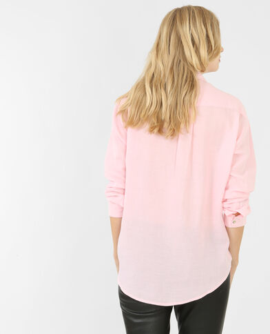 Chemise coton ample rose