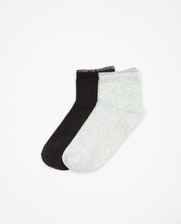 Paires de chaussettes lurex noir