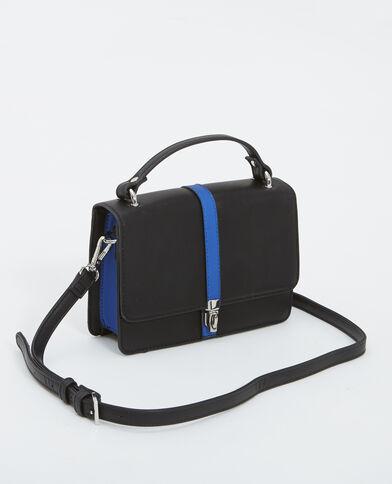 Kleine Handtasche aus Kunstleder Schwarz