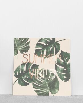 Poster met palmbomen roze
