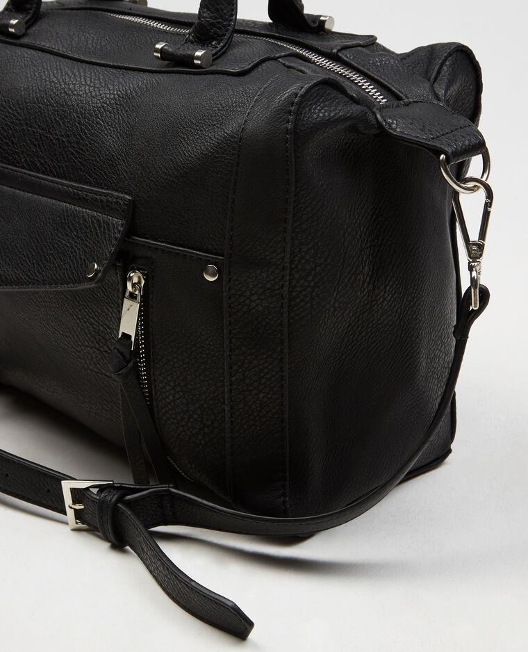 einkaufstasche mit rei verschluss schwarz 902270899a08 pimkie. Black Bedroom Furniture Sets. Home Design Ideas