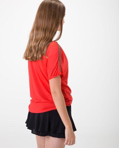 Soepelvallend T-shirt Rood