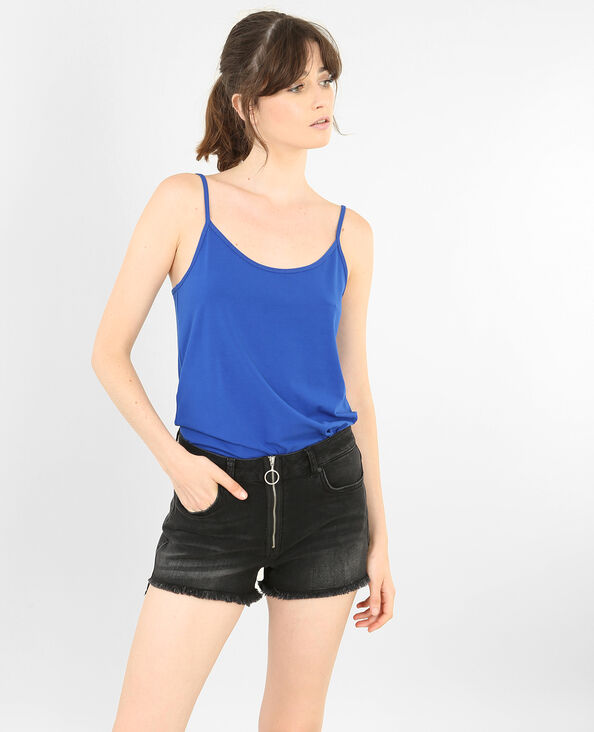Camiseta de tirantes básica azul eléctrico