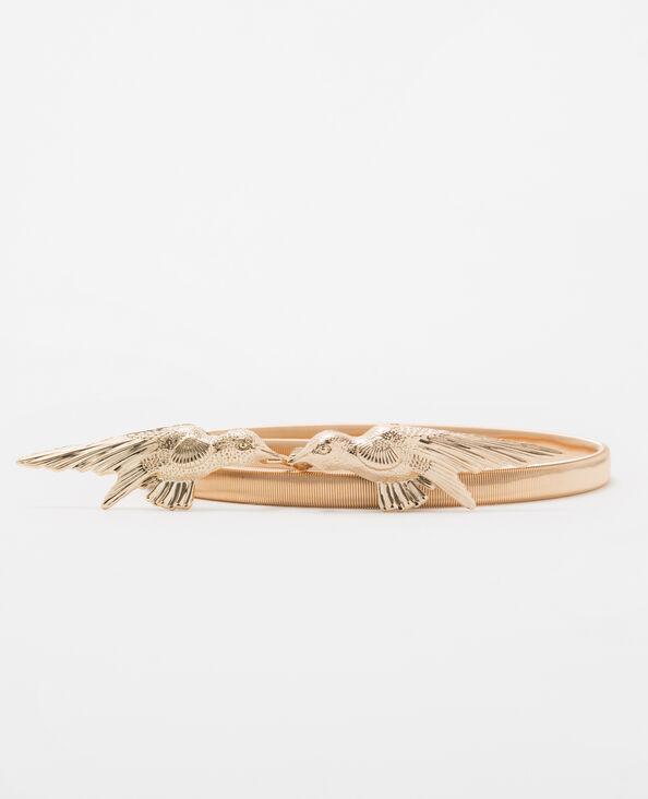 Goldfarbener Gürtel mit Gummiband Bronze