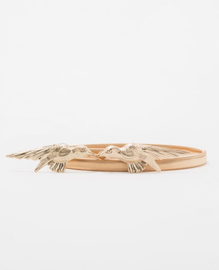 Cinturón dorado elástico bronce