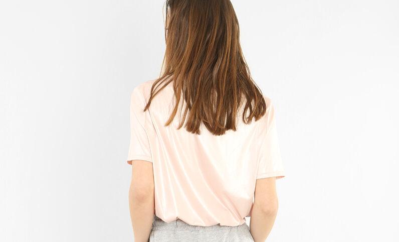 Schillerndes T-Shirt Rosa