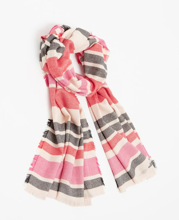 Sciarpa a righe rosa