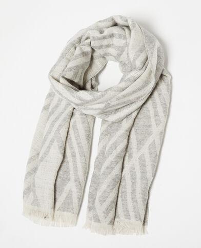 Sjaal met motieven grijs