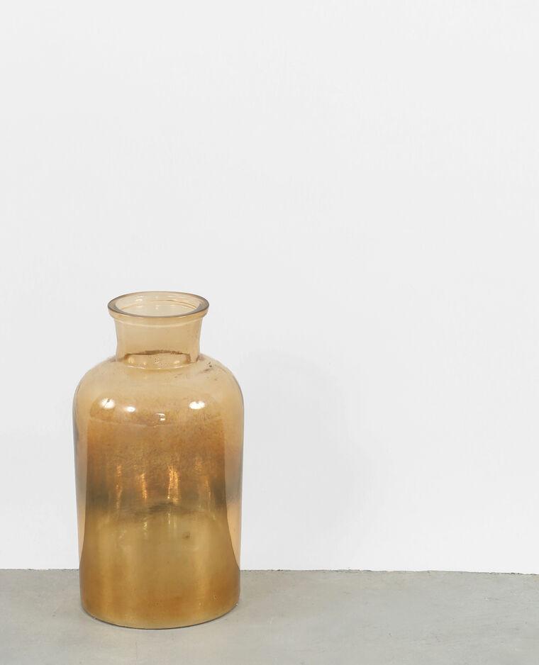 Vase mit Dégradé-Effekt Kastanienbraun