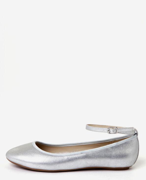 Zilverkleurige ballerina's zilvergrijs