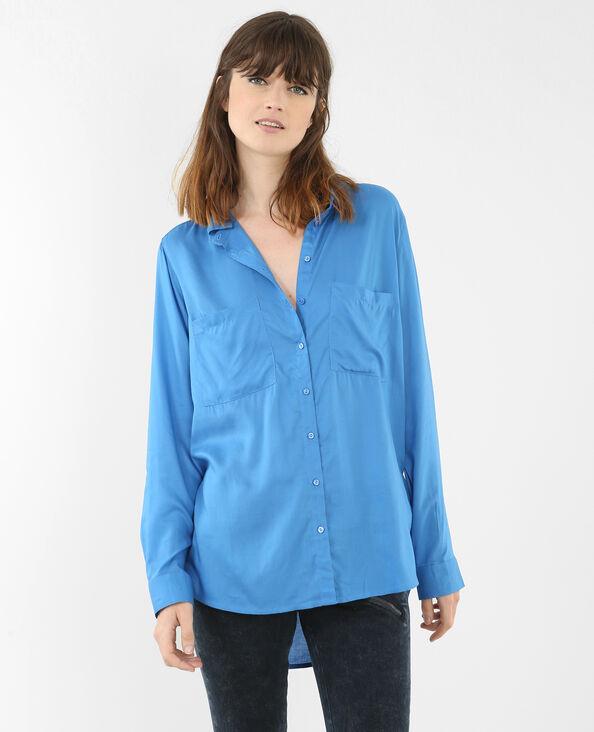 Camicia tinta unita blu