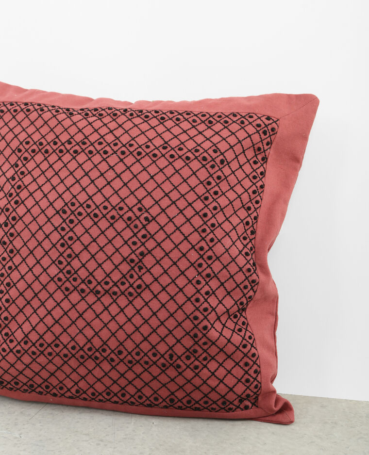 Housse de coussin brod e terracotta 902997331f07 pimkie for Housse de coussin ethnique