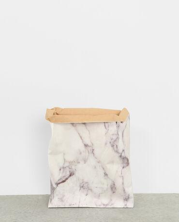 Paper bag marbré blanc cassé