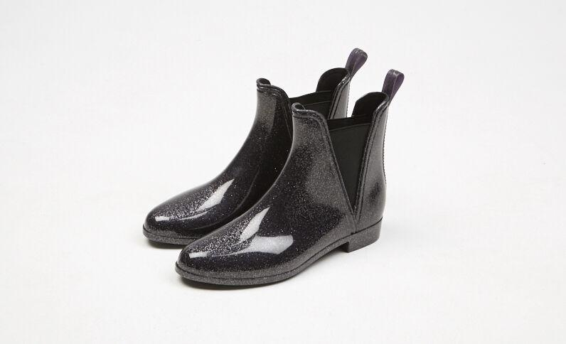 Glitzernde Chelsea-Boots Marineblau