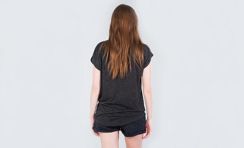 T-shirt gioiello grigio antracite