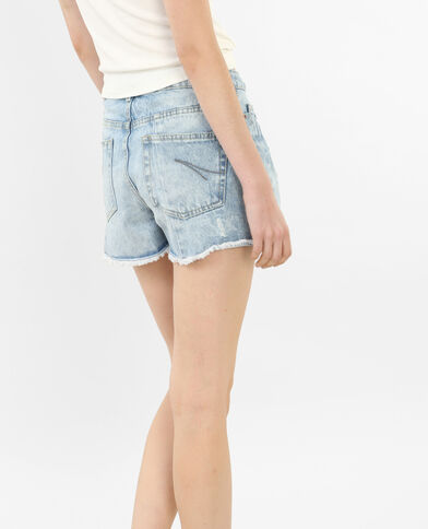 Jeans-Shorts mit hoher Taille Blau