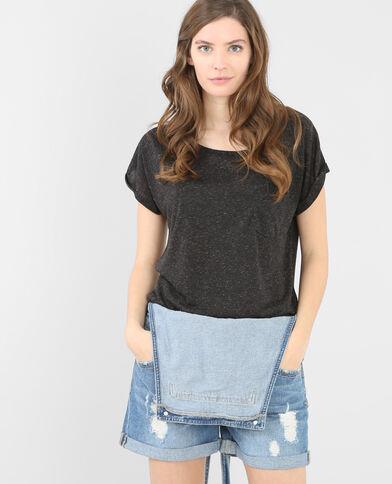 T-shirt basic con tasca grigio