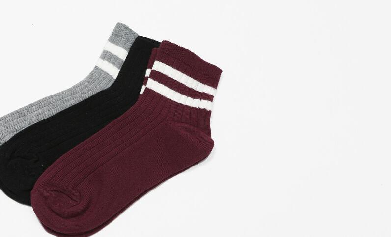 Lot de chaussettes courtes gris
