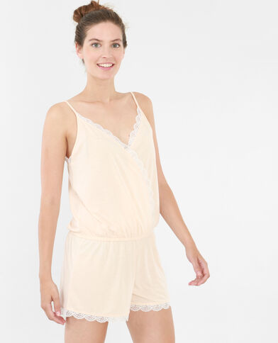 Homewear Kombi-Shorts mit Spitze Blassrosa