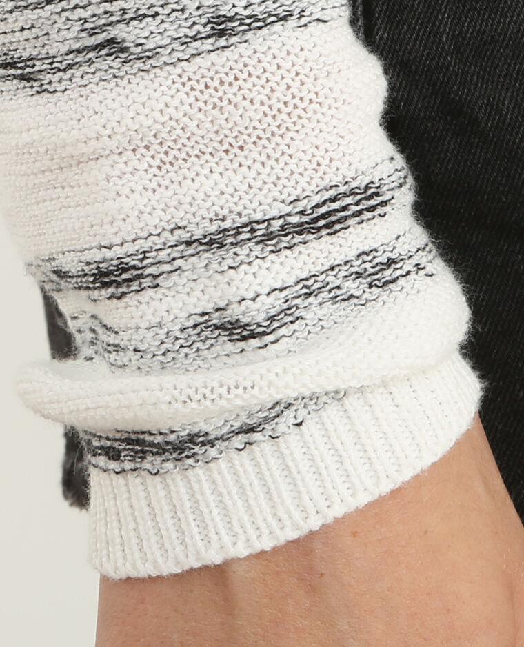 Lichte, gestreepte trui gebroken wit