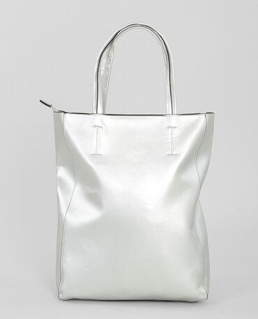 Einkaufstasche, silber Silberig