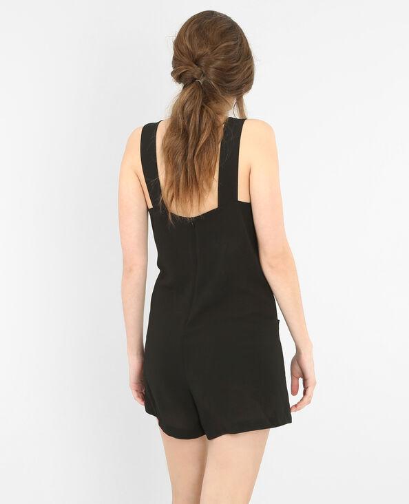 Kombi-Shorts aus weich fließendem Material Schwarz