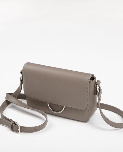 Kleine Boxy-Tasche Beige