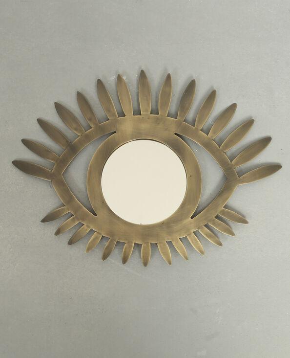 Spiegel in Augenform Bronze