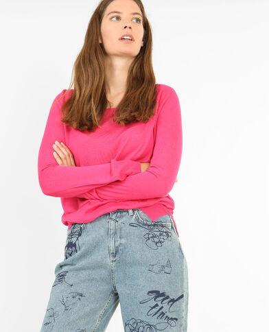 Leichter Basic-Pullover Rosa