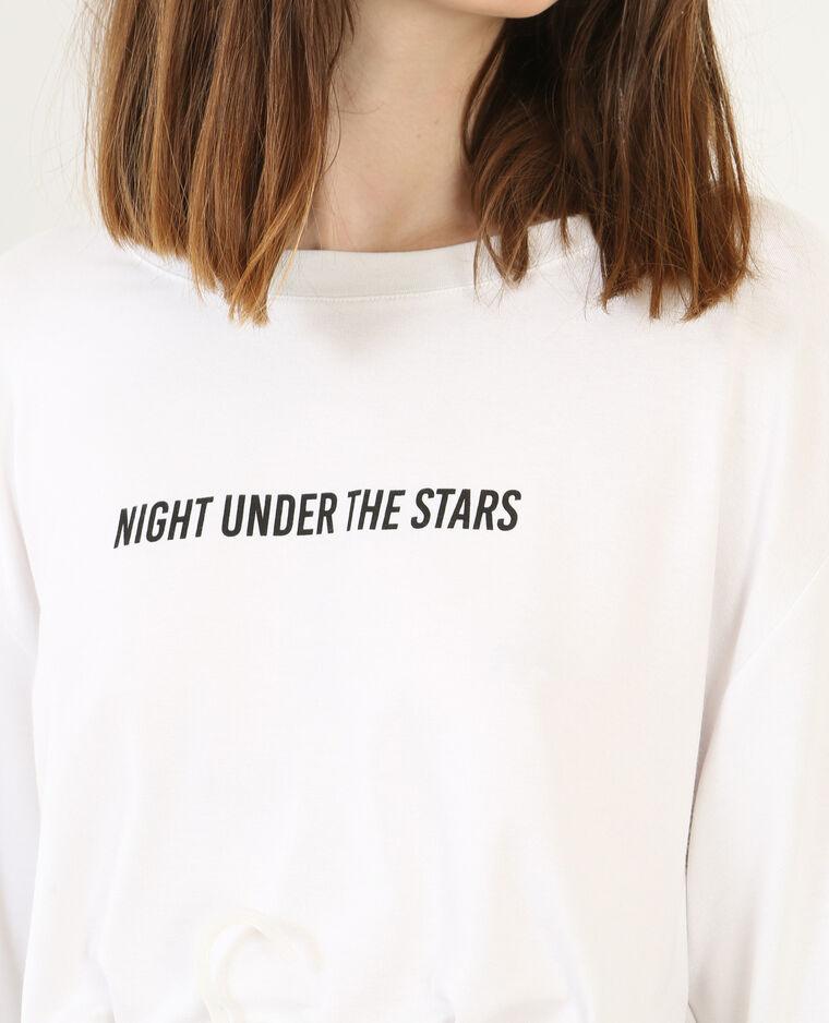 T-shirt ample à message écru