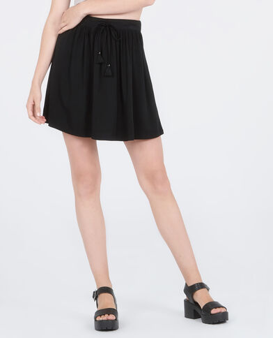 Mini jupe fluide noir