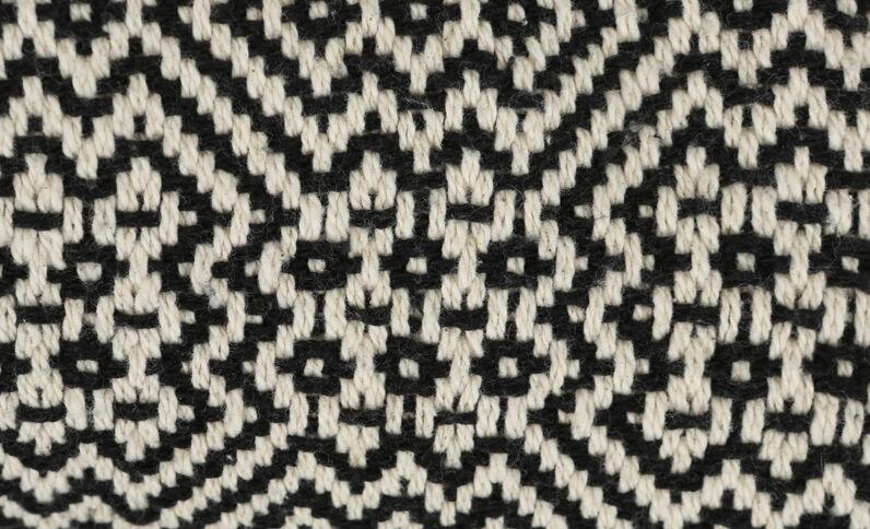 Grand plaid à motifs noir