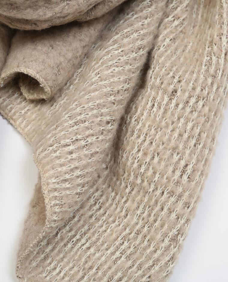 Echarpe tricot ultra doux beige