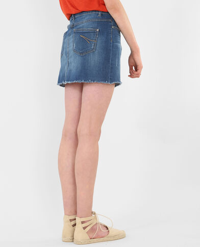 Mini jupe denim bleu denim